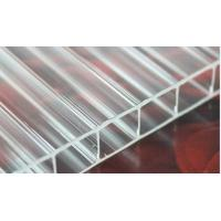 China Transparent Skylight Commercial Greenhouse Polycarbonate Hollow Sheet Uv Coated on sale