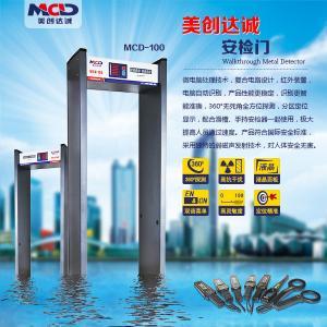 6 Detection Zones Door Frame Metal Detector Security Access for Entertainment