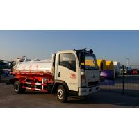 Buy cheap White 8 Cbm 266HP Sewage Removal Truck , HW76 Cab Sewage Suction Tanker Truck from wholesalers
