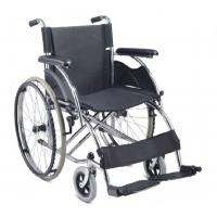 China New arrival europe style chromed steel wheelchair with double cross bar on sale