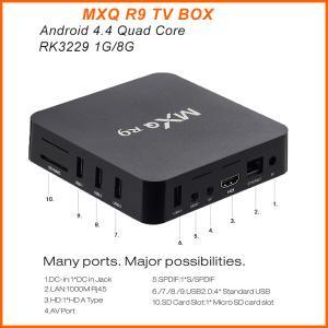 China MXQ R9 4K Android TV Box RK3229 Quad Core UHD 4K 60fps Smart TV Box MXQ R9 on sale