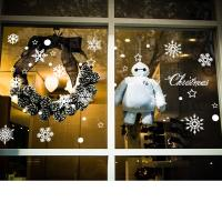 Buy Self Adhesive Christmas Snowflake Stickers , Non Toxic Pvc Wall Sticker Easy To at wholesale prices