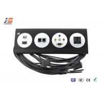 Quality Powerful Desk Cable Outlet , Electric Tabletop Plug And Socket Usb Rg45 for sale
