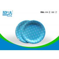Quality 7 Inch Circle Type Disposable Paper Plates Design Printed With Four Colours for sale