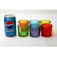 Quality Votive Candle Glass Cups Decorative Drinking Bar Transparent Custom Logo Color for sale