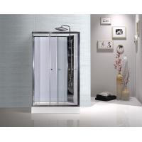 White ABS Tray Chrome Profiles Rectangular Shower Cabins 1200 X 800 X 2250 mm