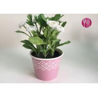 Quality Customized Wooden Design Single Wall Plant Paper Bucket Double PE Coated for sale
