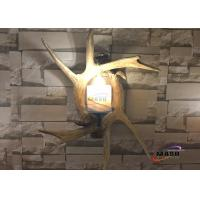 Quality Maso Hotsale Retro vintage Style Antler Wall Sconce Lamp Residential Wall Decorative Villa Hotel Lobby Art Lamp MS-W2006 for sale