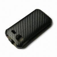 China Convertible Flip Case for HTC EVO 3D with Carbon Fiber Design on sale
