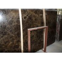 Quality Spain Emperador Dark Marble Slab , Marble Paving Slabs With Random Edges for sale