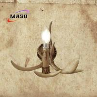 Buy cheap 2017 Popular Retro style Antler look MS-W2002 Coffee Color E14 Adison LED Candle Bulb Replacable Wall Sconce Lamp from Wholesalers