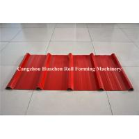 Buy Colored Steel trapezoid Roll Forming Machine For Roofing Sheet , low noise at wholesale prices