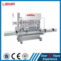 Quality Servo motor driven type cosmetic automatic shampoo bottle filling capping labeling machine filling line packing for sale
