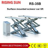 China High rise 4 c ylinder on ground mounted car lift with double scissor on sale