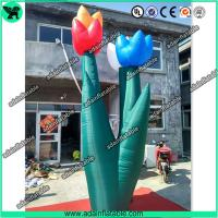 Quality Spring Indoor Outdoor Event Party Decoration Inflatable Tulip Flower Stage Decoration for sale