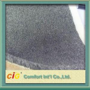 Quality Grey Flame Retardant Carpet Fabrics , Polyester Bonding Brushed Carpet For Indoor / Outdoor for sale
