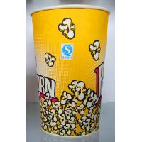 Quality Yellow Paper Ice Cream Cups 100ml  , 170ml  , 200ml Takeaway Coffeae Cups for sale