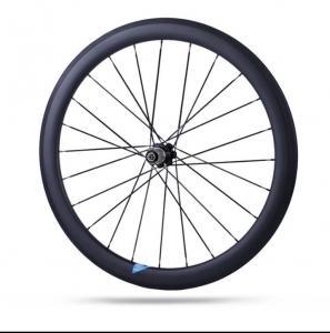 Quality 38mm / 50mm Carbon Road Bike Wheels , Good Carbon Disc Wheelset 700c U Shape for sale