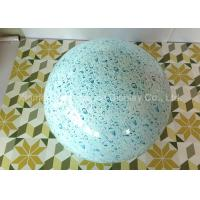 Quality Round Ball Shape Fiberglass Resin Statues Decorative Water Transfer Printing for sale