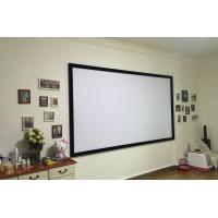 High Definition 80Inch Flat Frame Screen 3D Projector View Wall Mount Screens 16:9 Ratio of ...