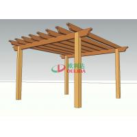 China Prefabricated Home Depot Outdoor Pergola , High Density WPC Backyard Pergola Kits on sale