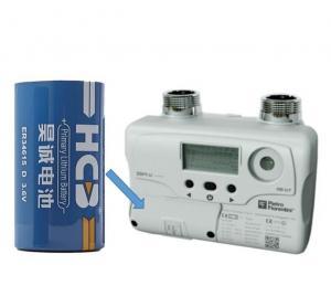 Quality ER 3.6V ER34615 Li Socl2 Battery Pack For Smart Gas Meters for sale