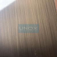 Quality 304 Bronze Hairline Stainless Steel Plate-CopperHairline Bronze Stainless Steel Sheets for sale