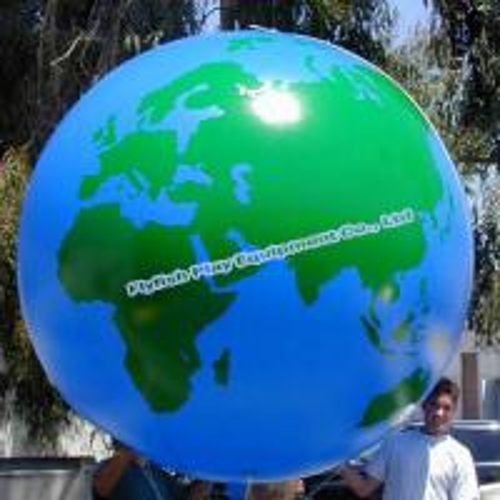 inflatable earth globe beach ball for sale - 91092848