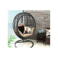 Quality Garden Rattan Wicker Single Seat Hanging Swing Egg Chair with Metal Stand for sale