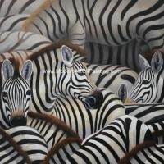 Handmade Abstract Art Canvas Paintings Animal Zebra Print Canvas Wall Art