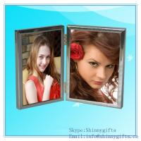 China Double Aluminum Picture Frame, silver photo Frame on sale