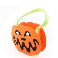 Quality Kids Halloween Candy Bags Simple Cute Design Eco - Friendly With Handle for sale