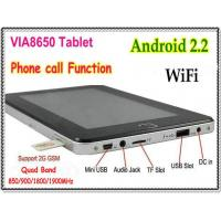 Quality 7 Inch Android 2.2 VIA8650 Tablet PC Phone Calling Function WiFi / Support External 3G / RJ45 Ethernet (V500) for sale