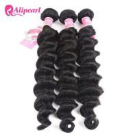 Quality Loose Deep Wave Real Brazilian Hair Bundles , Curly Human Hair Weave for sale