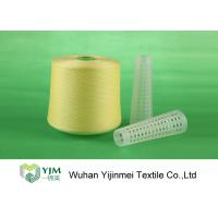 Quality 502 Colored Ring Spun Dyed Polyester Yarn , Polyester Twisted Yarn For Knitting / Weaving for sale