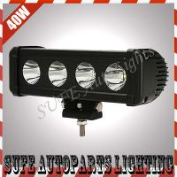 China IP67 3600LM 10-45V Spot Beam 40W CREE LED Work Light Bar led fog lights for trucks on sale