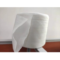 Quality 45g Double Layer Dry Wipes Roll Made By Mesh Spunlace Nonwoven Fabrics for sale