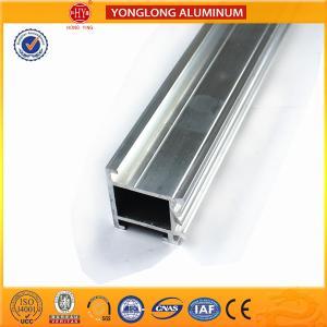 Quality Colored Rectangular Aluminum Heatsink Extrusion Profiles , Extruded Aluminum Window Frame for sale