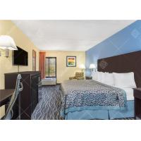 Quality Simple King / Twin Size Hotel Bedroom Furniture Set With Headboard and TV Table for sale