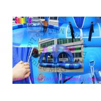 Quality inflatable blue pool with a cover tent for sale