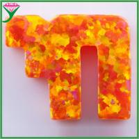 Quality wholesale price OP31 chai shape man-made mexico orange mystic opal for sale