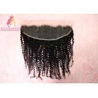 Quality Cuticle Aligned Raw Hair Deep Curly 13*4 Virgin Frontal Silky Lace Frontals for sale