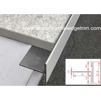 Quality T Shaped Stainless Steel Tile Trim Edging Natural Color For Floor / Tile End for sale