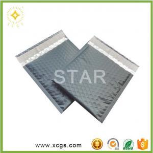 China Matte Black metallic bubble mailer / Custom logo bubble envelope /Photo Frame bubble bag on sale