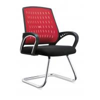 Quality Red And Black Office Visitor Chairs For Customer High Durability Eco Friendly for sale