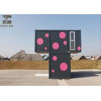 Quality Non - Combustible Flat Pack Container House , Pink And Black Flat Pack Steel Containers for sale