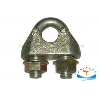 Quality DIN1142 Marine Hardware Drop Forged Wire Rope Clamp Electro Galvanized for sale