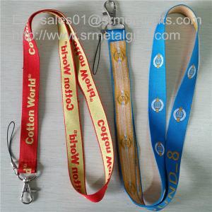 China Custom woven lanyard factory direct promotional jacquard logo woven lanyard straps, on sale
