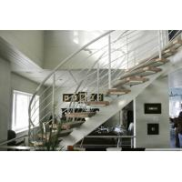 China Curved Staircase Stainless Steel Rod Railing Contemporary Rod Iron Railing on sale