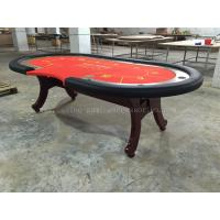 Wood 10 person high top texas holdem poker table with cup for 10 person poker table top